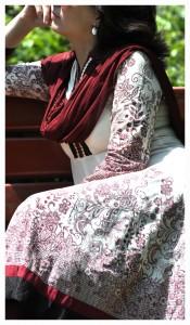 Anarkali - padticolare con bordo